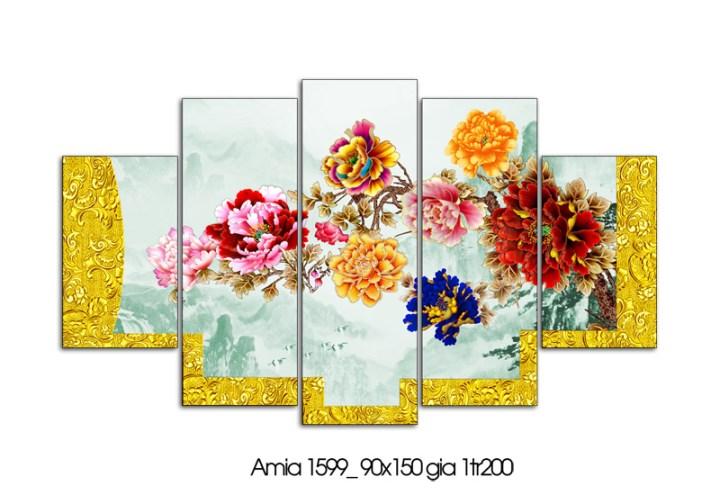 Tranh hoa mẫu đơn đẹp và ý nghĩa để treo phòng khách gia đình