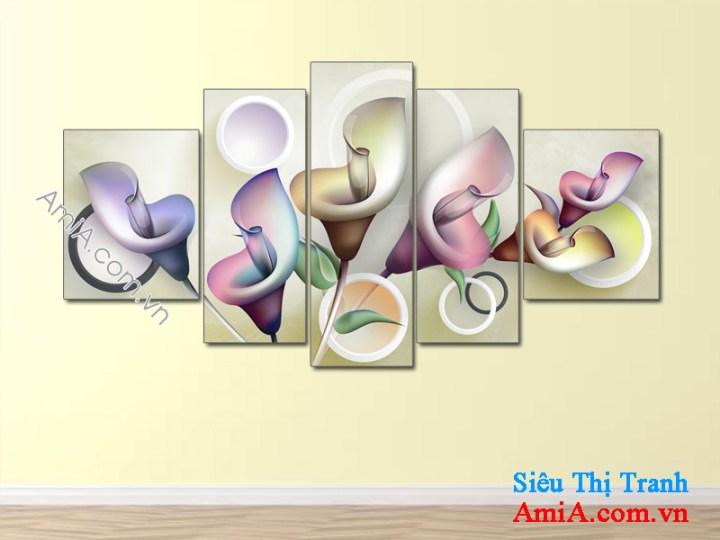 Mẫu tranh hoa nghệ thuật treo phòng khách