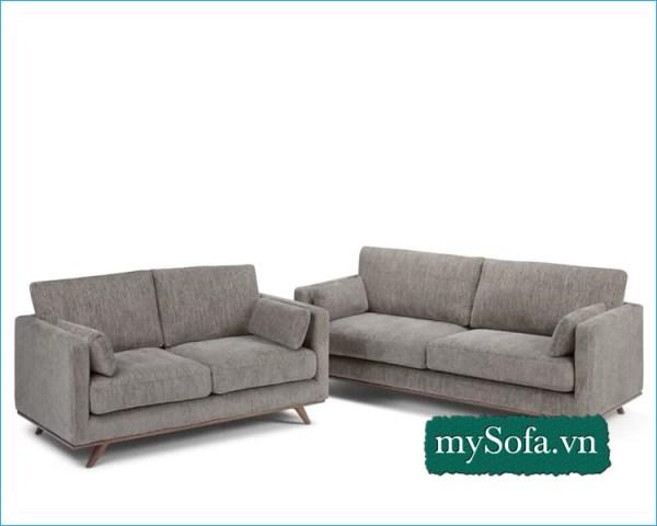 Bộ ghế Sofa nỉ đẹp kê phòng khách chung cư hiện đại MyS-18650