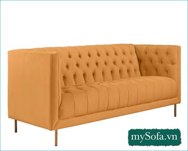 mẫu ghế sofa đẹp màu cam, kiểu thiết kế hiện đại MyS-19353