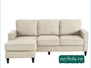 Ghế Sofa góc đẹp màu kem sáng trẻ trung MyS-18671