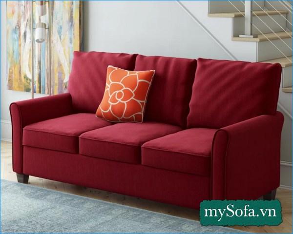 mẫu ghế sofa phòng khách đẹp màu đỏ MyS-19092