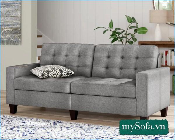 mẫu ghế sofa nỉ màu ghi đẹp giá rẻ MyS-19068