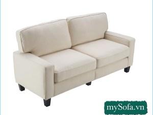 mẫu ghế sofa phòng ngủ đẹp giá rẻ màu kem sáng MyS-19018