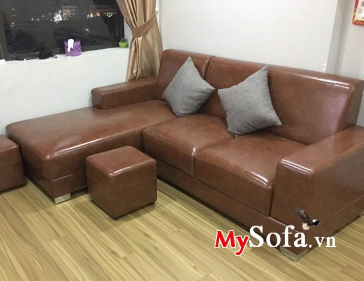 Sofa góc chữ L đẹp giá rẻ cho phòng khách diện tích nhỏ