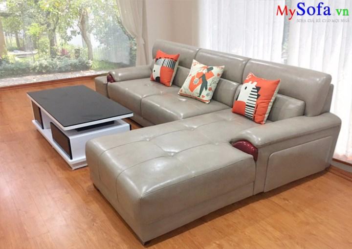 Sofa da cho phòng khách nhà biệt thự