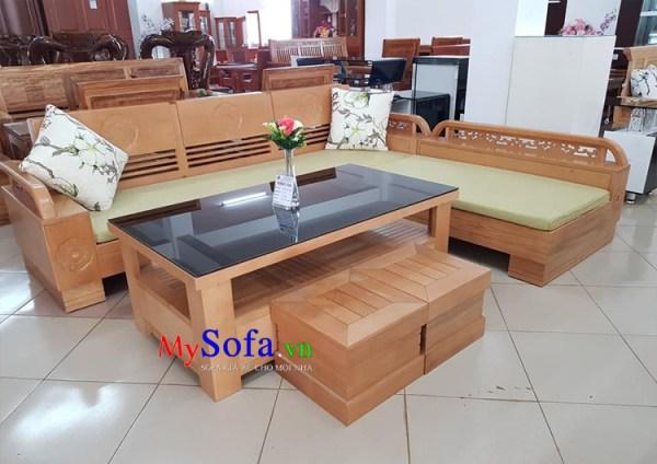 Ghế Sofa góc dạng gỗ cao cấp
