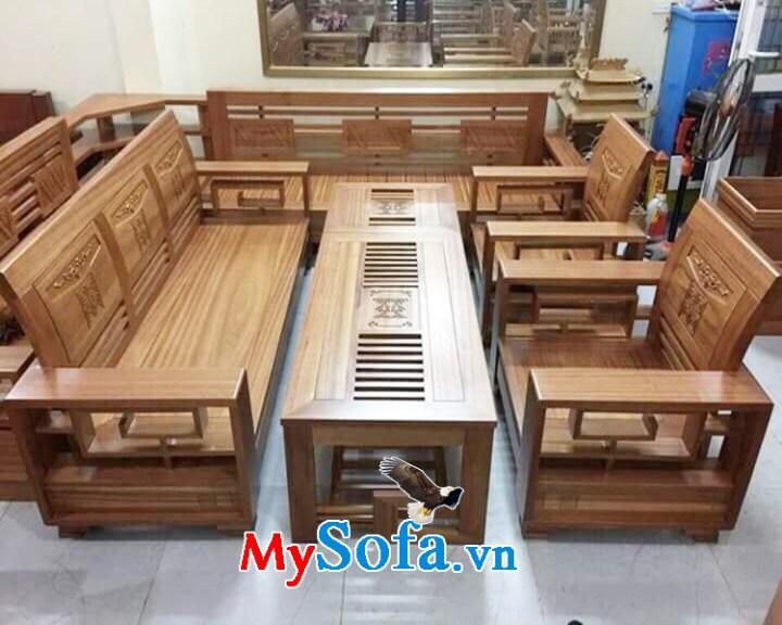 Bàn ghế sofa gỗ Sồi tự nhiên đẹp giá rẻ