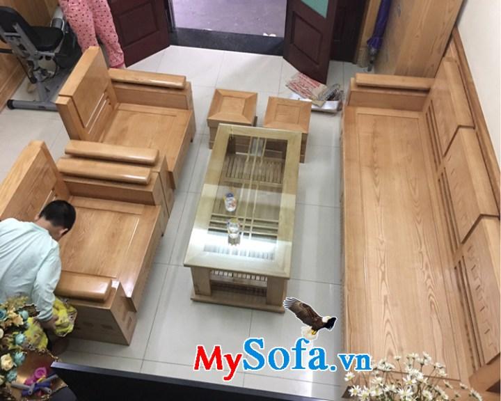 Bộ bàn ghế sofa gỗ tự nhiên hiện đại sang trọng