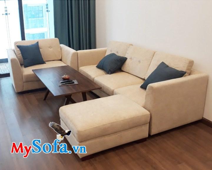 Bộ ghế sofa góc đẹp chất liệu vải nỉ