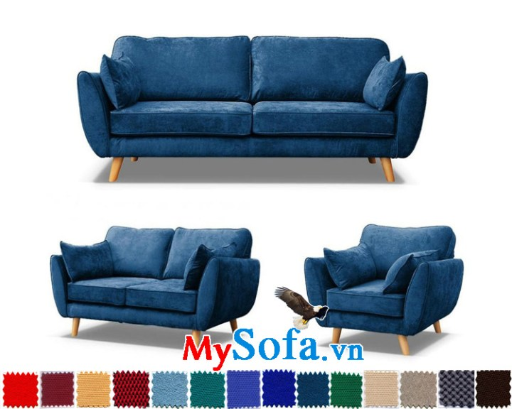 bộ ghế sofa nỉ văng đẹp