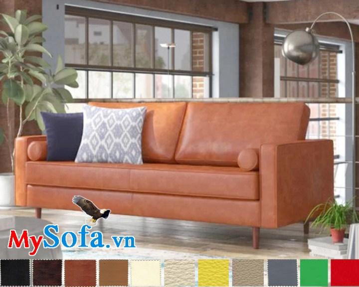ghế sofa văng da sang trọng hiện đại