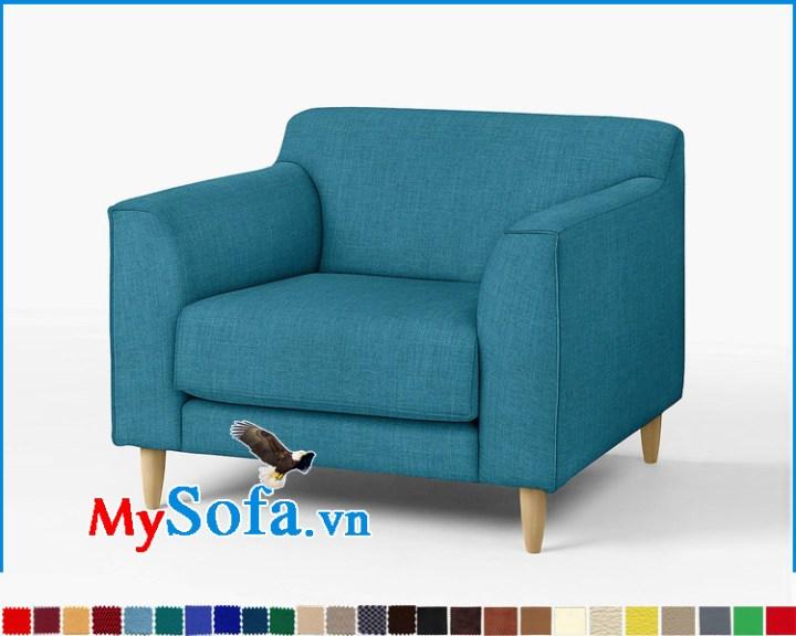 sofa đơn đẹp giá rẻ, dáng tựa lưng thấp