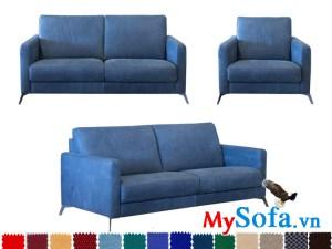 bộ sofa nỉ với màu xanh coban cực lạ mắt chắc chắn là một điểm nhấn khó bỏ qua trong không gian nhà bạn