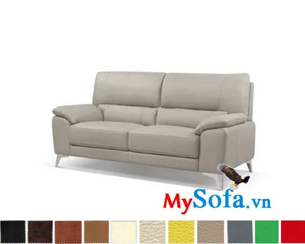 Ghế sofa văng bọc da đẹp kê phòng khách hiện đại