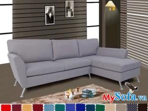 mẫu ghế sofa nỉ góc chữ L đẹp giá rẻ