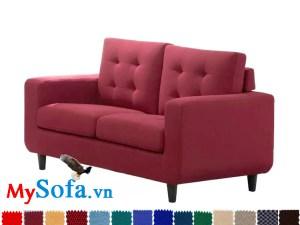 MyS 0619066 là mẫu sofa văng kê phòng khách cực trẻ trung với màu đỏ rực rỡ