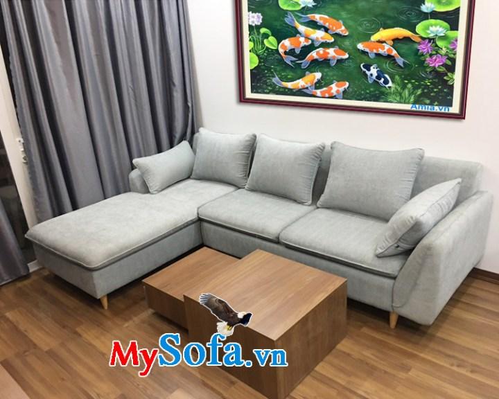Hình ảnh phòng khách đẹp với sofa góc