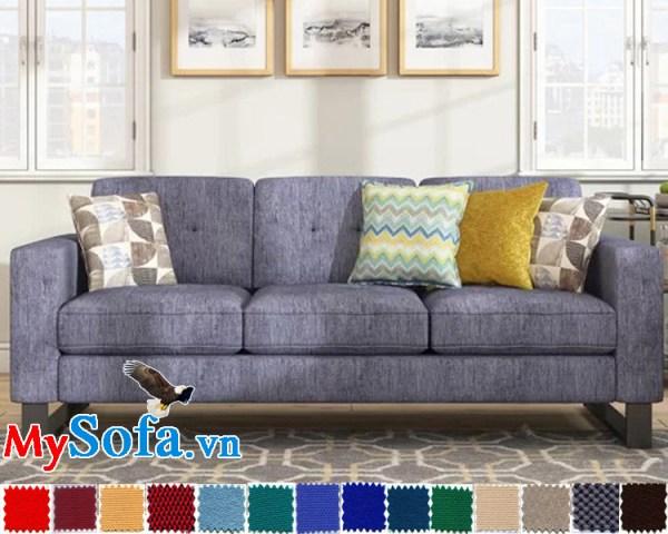 sofa nỉ văng 3 chỗ đẹp giá rẻ hiện đại
