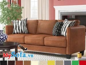ghế sofa da văng đẹp sang trọng và hiện đại
