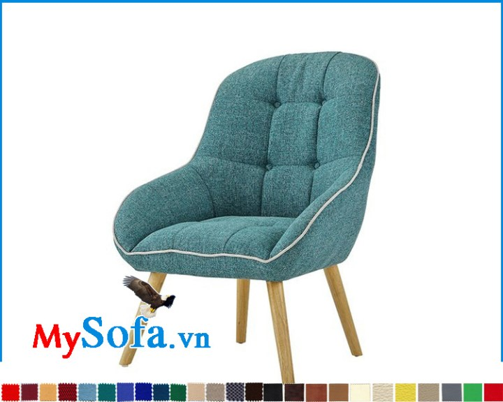 Mẫu ghế sofa đơn chân gỗ tựa lưng cao