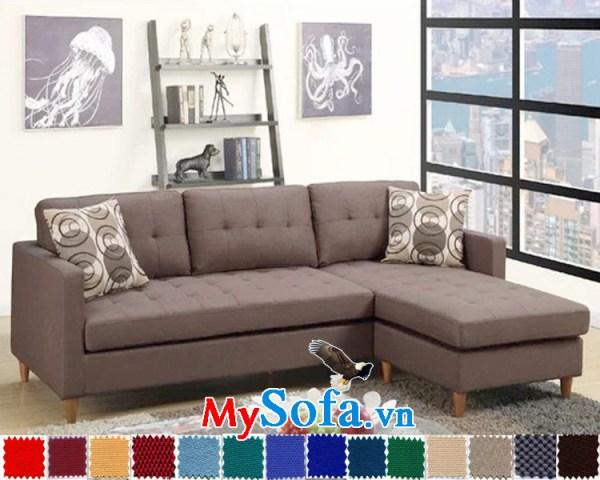 Sofa nỉ góc chữ L đẹp cho không gian yên bình