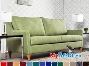 ghế sofa vải nỉ đẹp cho phòng khách nhỏ hiện đại