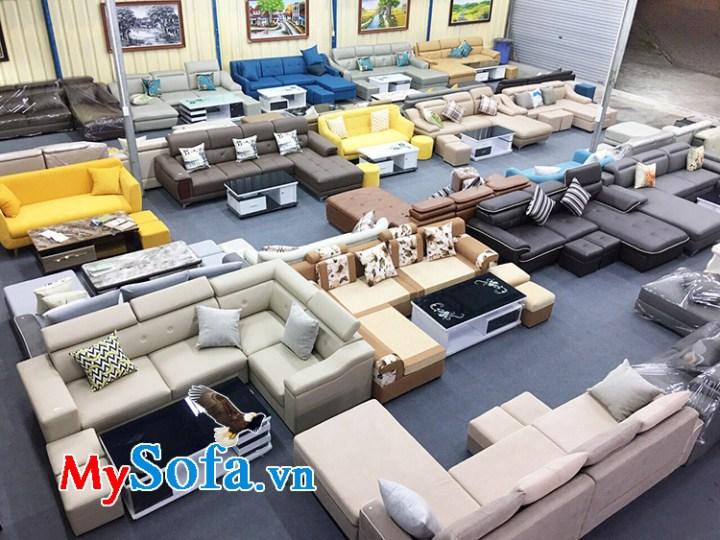 Hình ảnh không gian trưng bày bàn ghế sofa tại MySofa.vn