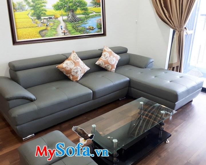 Sofa da giá rẻ thiết kế dạng góc L đẹp