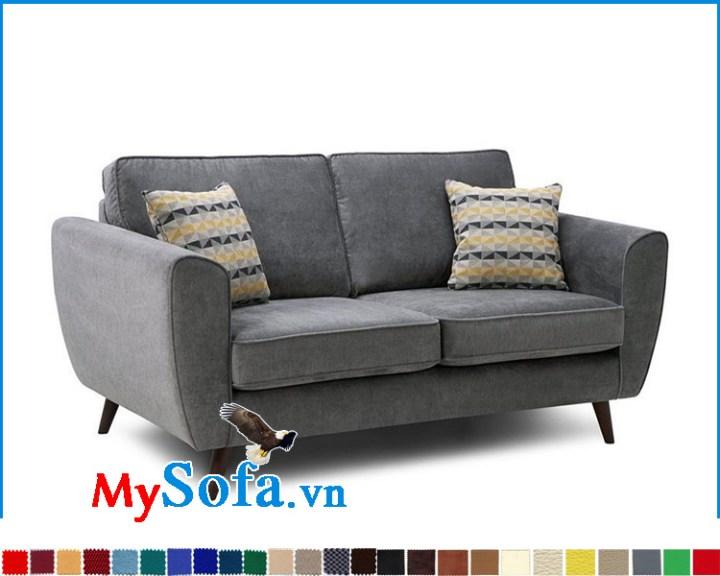 Mẫu ghế sofa văng bọc nỉ màu ghi