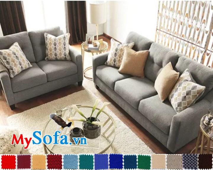 bộ sofa văng thiết kế hiện đại mys 0619277 màu sắc vải nỉ trang nhã, lịch sự