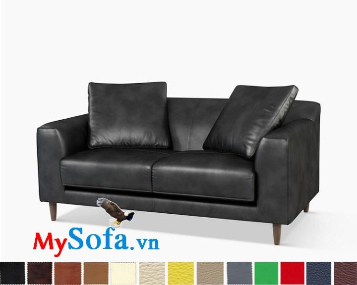 Ghế sofa da dạng văng 2 chỗ sang trọng và hiện đại