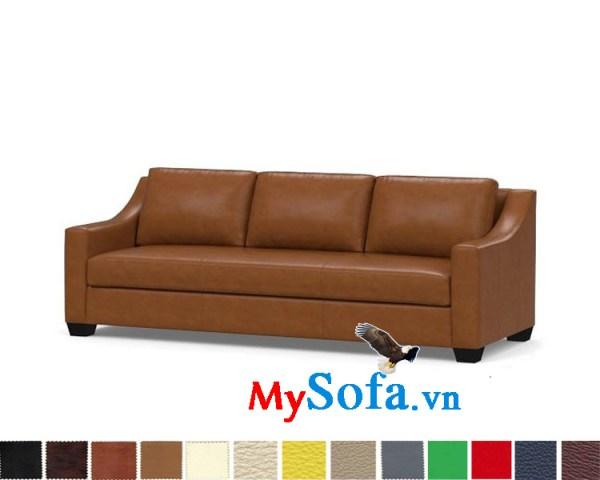 Ghế sofa da dạng văng 3 chỗ đẹp cho phòng khách hiện đại