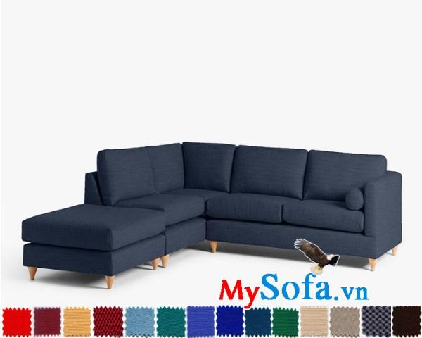 Ghế sofa góc chất nỉ đẹp cho phòng khách hiện đại