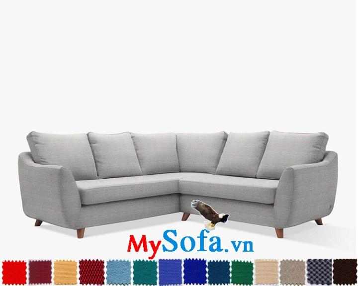Ghế sofa nỉ dạng góc đẹp cho phòng khách hiện đại và sang trọng