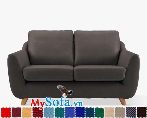 Ghế sofa nỉ dạng văng 2 chỗ đẹp hiện đại và sang trọng