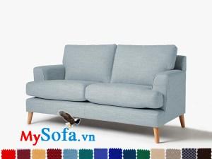 Ghế sofa nỉ dạng văng 2 chỗ đẹp hiện đại và trẻ trung