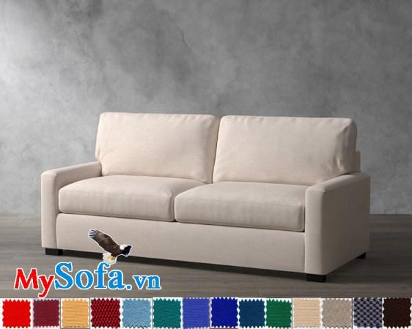 Ghế sofa nỉ dạng văng đẹp và trẻ trung
