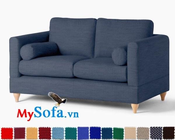Ghế sofa nỉ kiểu văng 2 chỗ đẹp cho phòng khách hiện đại