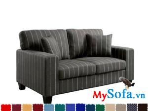 Ghế sofa nỉ dạng văng đẹp với hoa văn độc đáo
