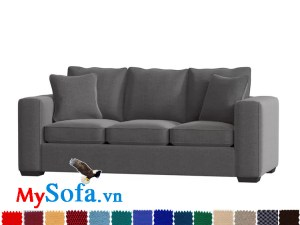 Ghế sofa nỉ dạng văng 3 chỗ đẹp hiện đại