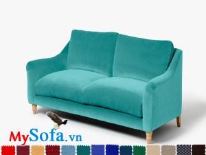 Ghế sofa nỉ văng loại 3 chỗ tươi sáng và trẻ trung