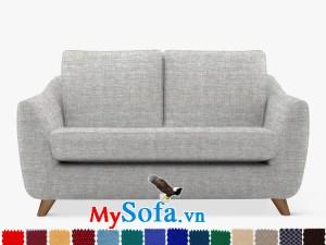 Ghế sofa văng bọc vải nỉ hiện đại và trẻ trung