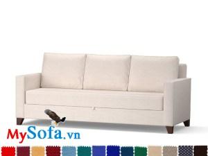 Ghế sofa văng bọc nỉ cực êm ái cho phòng khách hiện đại