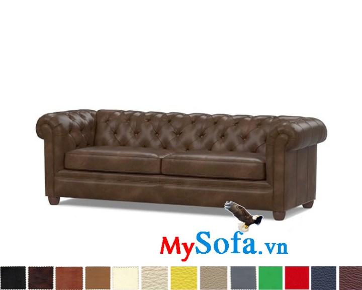 Ghế sofa văng chất da hiện đại và sang trọng