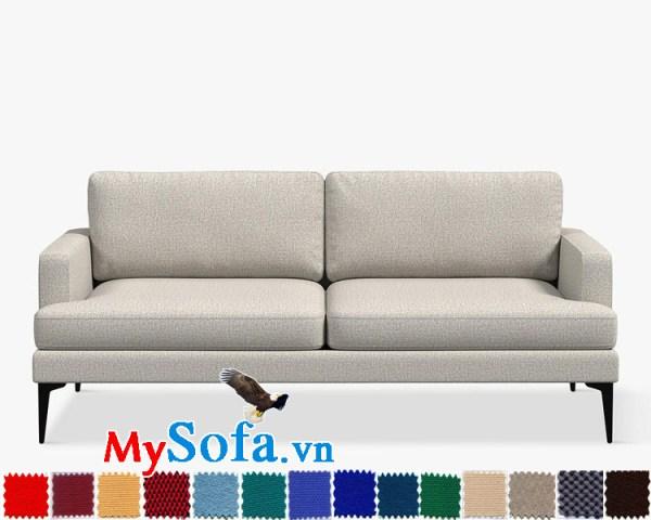 Ghế sofa văng chất nỉ đẹp cho phòng khách hiện đại