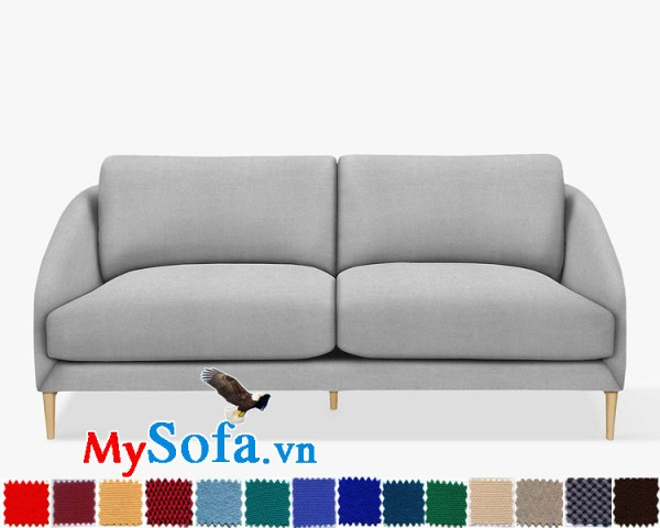 Ghế sofa văng chất nỉ hiện đại và trẻ trung