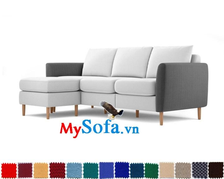 sofa góc thiết kế hiện đại cho phòng khách chung cư mys 0619325 màu sắc lạ mắt