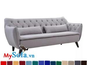 sofa văng dài mys 0619266 thiết kế trẻ trung, màu sắc tươi trẻ