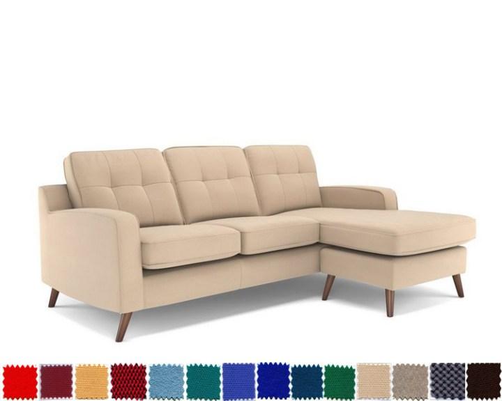 Sofa góc nỉ màu kem đẹp giá rẻ